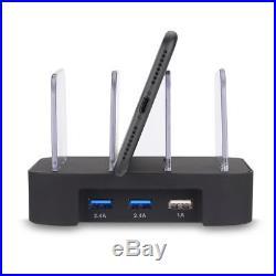 3 Port USB Charging Station Dock Desktop Multiple Charger Phone Docking Station