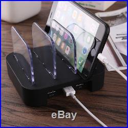 3 Port USB Charging Station Dock Stand Desktop Multi Charger Hub for iPhone