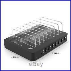 Aizbo USB Charging Station, 8-Port Multiple Device Charging Dock Desk Organiser