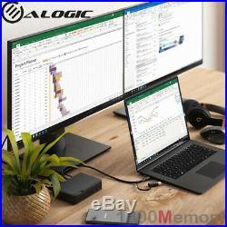 Alogic Universal Twin HD Docking Station USB-C USB-A Compatibility Dual Display