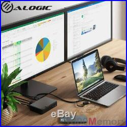 Alogic Universal Twin HD Pro Docking Station 85W PD USB-C USB-A Dual Display