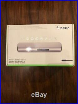 BELKIN F4U093vf Express Dock HD USB-C Desktop Docking Station for Macbook/M Pro