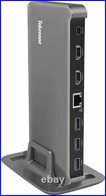 Brand New 13 Port USB C Dual Monitor Docking Station 4K with Thunderbolt 3