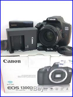 Canon EOS 1300D 18MP SLR Camera Kit with 50mm f1.8 lens, low shutter count 1756