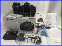 Canon EOS 1300D DSLR with EF-S18-55 DC III F3.5-5.6 Lens Kit Black UK Stock