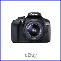 Canon EOS 1300D with EF-S18-55 DC III F3.5-5.6 Kit Black Warranty