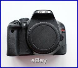 Canon EOS 550D / Rebel T2i 18.0MP Digital SLR Camera Black (Body, 2 batteries)