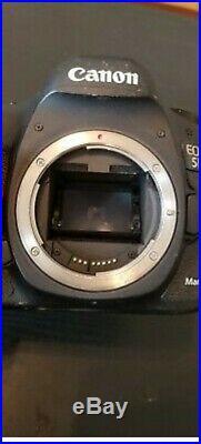 Canon EOS 5d mark III 22.3 MP Digital SLR Camera Black Body Only (damaged)
