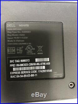 Dell WD19TB 180W Thunderbolt 3 USB-C DisplayPort Docking Station