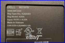 Dell WD19TB 180W Thunderbolt 3 USB-C DisplayPort Docking Station New Sealed