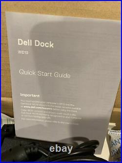 Dell WD19 130W Adapter USB-C, DisplayPort Docking Station