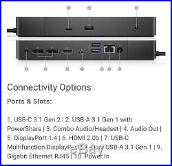 Dell WD19 / Docking Station / Port Replicator USB C-Dock 180W Brand New