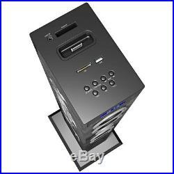 Dockingstation Stereoanlage MP3 USB SD Slot AUX Musikanlage Soundtower Musikturm