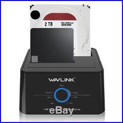Dual Bay Duplicator USB3.0 SATA Hard Drive HDD Docking Station for 2.5/3.5 HDD