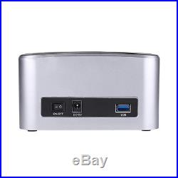 HDD Docking Station USB 3.0 to Dual SATA Hard Drive 6 Gbps 2.5/3.5 Docking