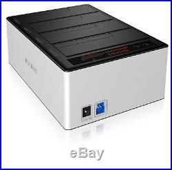 ICY-BOX IB-141CL-U3 4-fach Docking- & Klonstation für 2,5&3,5 SATA HDD USB3.0