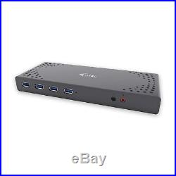I-tec USB 3.0 / USB-C 5K Universal Dual Display Docking Station, 2x 4K 60Hz 2x /