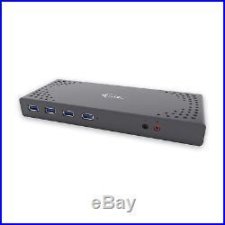 I-tec USB 3.0 and USB-C 5K Universal Dual Display Docking Station