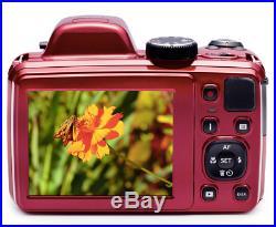 KODAK PIXPRO AZ401 Bridge Digital Camera16MP 40X Optical Zoom HD720p video (Red)
