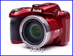 KODAK PIXPRO AZ401 Bridge Digital Camera 16MP 40X Optical Zoom HD720p video Red