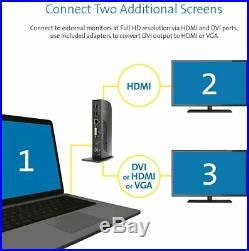 Kensington SD3500v USB 3.0 Docking Station Dual HD Video Outputs BRAND NEW