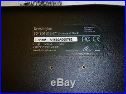 Kensington Usb-c Universal Docking Station Sd4500 Dock Thunderbolt 3 4k C New