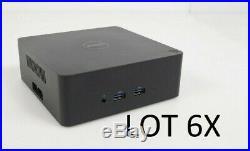 LOT 6x Dell K16A Thunderbolt 3 Type USB-C Docking Station No Power Adapter