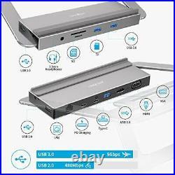 Laptop Stand Docking Station, James Donkey 13 in 1 USB C Hub, Aluminum Type C
