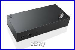 Lenovo 40A90090UK Laptop Docking Station, USB 3.0 (3.1 Gen 1) Type-C, VGA, Black
