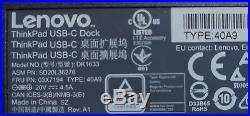 Lenovo ThinkPad USB-C Dock Docking Station + 2 DisplayPort to HDMI cable
