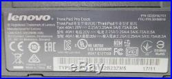 Lot 34x Lenovo ThinkPad Pro Dock Docking Station / Port Replicator USB 3.0 A40A1