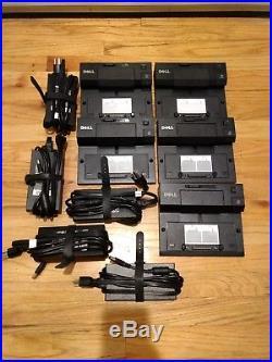 Lot 5 Dell Docking Station EPort PRO3X replicator USB3.0 + PA4E Adapter 130 Watt
