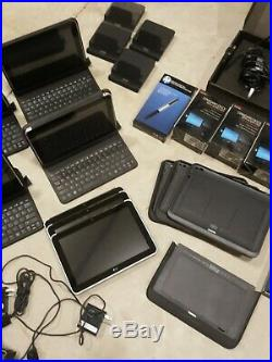 Lot of HP Elitepad 900 10 Tablets With boxes, accessories, docking stations ect