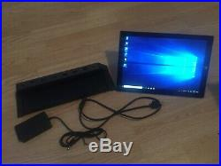 Microsoft Surface Pro 3 128GB SSD WiFi 12in Cracked with docking station READ