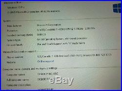Microsoft Surface Pro 3 512GB 8GB RAM i7 2.30Ghz Dock station for USB model 1631