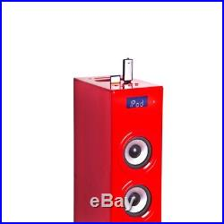 Music tower Soundtower Ipod Iphone Docking Station SD AUX USB BigBen Glossy Red