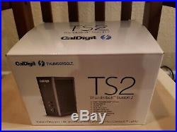 NEW CalDigit TS2 Thunderbolt 2 4K HDMI Audio USB 3.0 LAN eSATA Docking Station