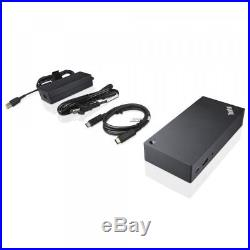 NEW Lenovo ThinkPad USB -C Dock 90W Laptop Docking Station P/N 40A90090US