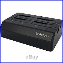 NEW! Startech Usb 3.0 To 4-Bay Sata 6Gbps Hard Drive Docking Station With Uasp & D