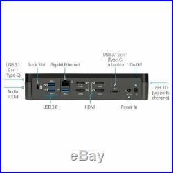 NEW TARGUS DOCK520USZ USB-C Universal QUAD HD (QVHD) Docking Station 4 MONITORS