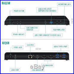 Nekteck USB Type C Docking Station 60W Power Delivery, Triple 4K HD Display