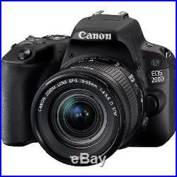 New Canon EOS 200D DSLR Camera with EF-S 18-55mm IS STM Lens Kit 24.2MP UK Model
