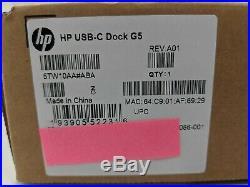 New HP USB-C Dock G5 Docking Station -JT0806