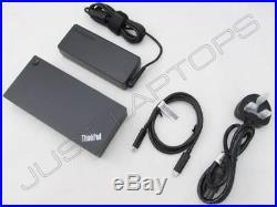 New Lenovo ThinkPad E570 USB-C Dock Docking Station Port Replicator + PSU
