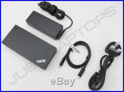 New Lenovo ThinkPad X1 Carbon 5th Gen USB-C Dock Docking Station + AC Adapter