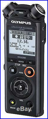 New OLYMPUS Linear PCM recorder LS-P4 black Bluetooth 39H 8GB Hi-res from Japan