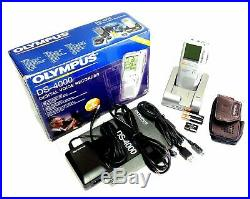 New Olympus DS-4000 Professional Handheld Digital Voice Recorder Pro-Line Set