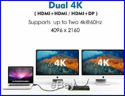 New Wavlink Universal USB-C/3.0 Ultra 4/5K Dual Video Docking Station HDMI RJ45