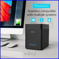 ORICO 3.5 USB3.0 5-Bay 50TB SATA Hard Drive Case HDD Enclosure Docking Station