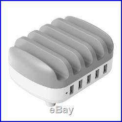 ORICO 5 Port × 2.4A USB Charging Station Fast Charger Plug Dock Slot iPhone iPad